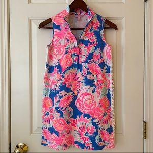 Lilly Pulitzer Blue & Pink Sea Print Jersey Dress